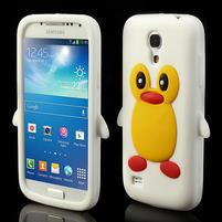 Silikon 3D TUČŇÁK pro Samsung Galaxy S4 mini i9190- biely