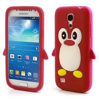 Silikon 3D TUČŇÁK pro Samsung Galaxy S4 mini i9190- červený