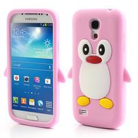 Silikon 3D TUČŇÁK pro Samsung Galaxy S4 mini i9190- svetloružový