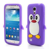 Silikon 3D TUČŇÁK pro Samsung Galaxy S4 mini i9190- fialový