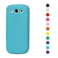 Silikonové PNEUpozdro pre Samsung Galaxy S3 i9300 - světle modrá