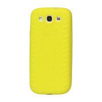 Silikonové PNEU pozdro pro Samsung Galaxy S3 i9300 - žlté