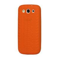 Silikonové PNEU pozdro pre Samsung Galaxy S3 i9300 - oranžové