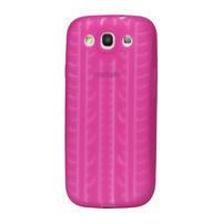 Silikonové PNEU pozdro pre Samsung Galaxy S3 i9300 - růžové