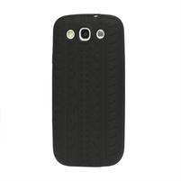Silikonové PNEU pozdro pre Samsung Galaxy S3 i9300 - čierné