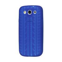Silikonové PNEU pozdro pre Samsung Galaxy S3 i9300 - modrá