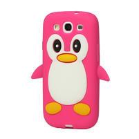 Silikonový TUČŇÁK pre Samsung Galaxy S3 i9300 - růžový