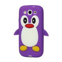 Silikonový TUČŇÁK pre Samsung Galaxy S3 i9300 - fialový