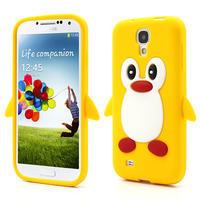 Silikonový Tučňák pouzdro pro Samsung Galaxy S4 i9500- žlutý
