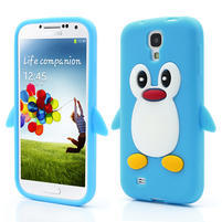Silikonový Tučniak puzdro pro Samsung Galaxy S4 i9500- svetlo-modrý