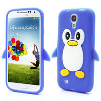 Silikonový Tučňák pouzdro pro Samsung Galaxy S4 i9500- modrý