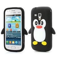 Silikonový tučniak puzdro pre Samsung Galaxy Trend, Duos- čierny