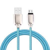 GT7 tkaný kábel micro USB pre synchronizáciu a nabíjanie / 1m - modrý