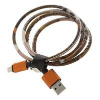 Rich koženkou potiahnutý micro USB kabel pre rychlé dobíjanie a synchronizáciu 1 m - styl III