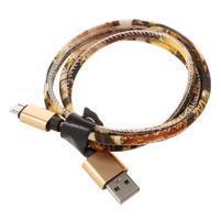 Rich koženkou potiahnutý micro USB kabel pre rychlé dobíjanie a synchronizáciu 1 m - styl IV