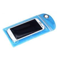 Nepromokavý a odolný obal pre mobil do rozmerov 150 x 95 mm - modrý