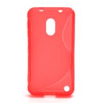Gélové S-line puzdro na Nokia Lumia 620- červené