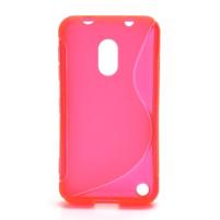 Gélové S-line puzdro na Nokia Lumia 620- ružové