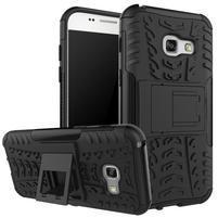 Outdoor odolný obal pre mobil Samsung Galaxy A3 (2017) SM-A320 - čierny ba719a892c1