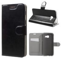 Horse PU kožené puzdro pre mobil Samsung Galaxy A5 (2017) SM-A520 - čierne
