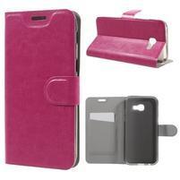 Horse PU kožené puzdro pre mobil Samsung Galaxy A5 (2017) SM-A520 - rose