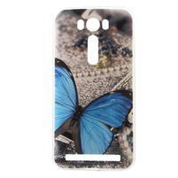 Native gélový obal pre Asus Zenfone 2 Laser - modrý motýľ