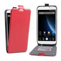GT flipové PU kožené puzdro pre mobil Doogee X6 - červené