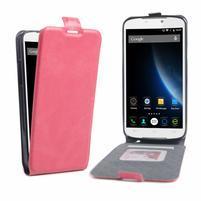 GT flipové PU kožené puzdro pre mobil Doogee X6 - rose