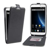 GT flipové PU kožené puzdro pre mobil Doogee X6 - čierne
