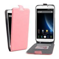 GT flipové PU kožené puzdro pre mobil Doogee X6 - ružové