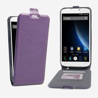 GT flipové PU kožené puzdro pre mobil Doogee X6 - fialové