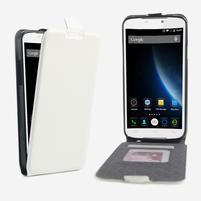 GT flipové PU kožené puzdro pre mobil Doogee X6 - biele