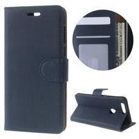 Clothy Peňaženkové puzdro pre mobil Honor 8 - tmavomodré