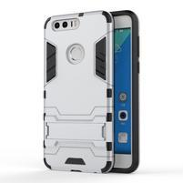 Outdoor odolný obal na mobil Honor 8 - stříbrný