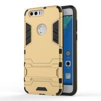 Outdoor odolný obal pre mobil Honor 8 - zlatý