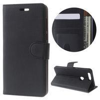 Clothy peněženkové puzdro na mobil Honor 8 - černé