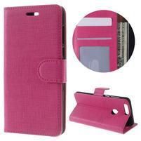 Clothy peněženkové puzdro na mobil Honor 8 - rose