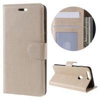 Clothy Peňaženkové puzdro pre mobil Honor 8 - zlaté