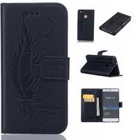 Pierko PU kožené puzdro na Huawei P9 Lite - čierne