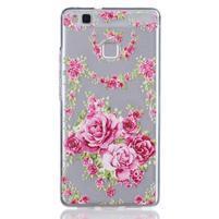 Flexies gelový obal na Huawei P9 Lite - květiny
