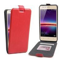 Flipové PU kožené puzdro na Huawei Y3 II - červené