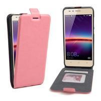Flipové PU kožené puzdro na Huawei Y3 II - růžové