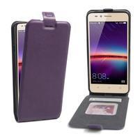 Flipové PU kožené puzdro na Huawei Y3 II - fialové