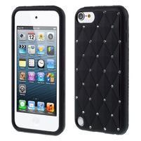Brite silikónový obal s kamienkami iPod Touch 6 / Touch 5 - čierny