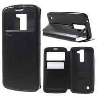 Richi PU kožené puzdro pre mobil LG K8 - čierne