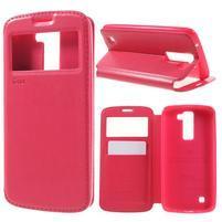 Richi PU kožené puzdro pre mobil LG K8 - rose