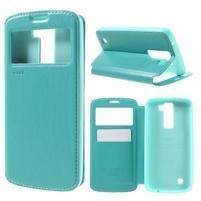 Richi PU kožené puzdro pre mobil LG K8 - azurové