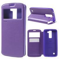 Richi PU kožené puzdro pre mobil LG K8 - fialové