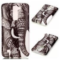 Emotive gélový obal pre mobil LG K8 - slon