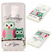 Emotive gelový obal na mobil LG K8 - sovy